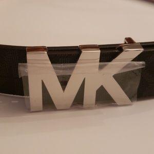 Michael Kors Nwt Logo Brown Belt